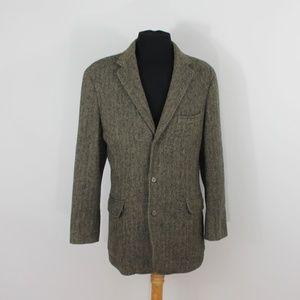 J Crew Yorkshire Tweed Brown Jacket  Blazer 44R